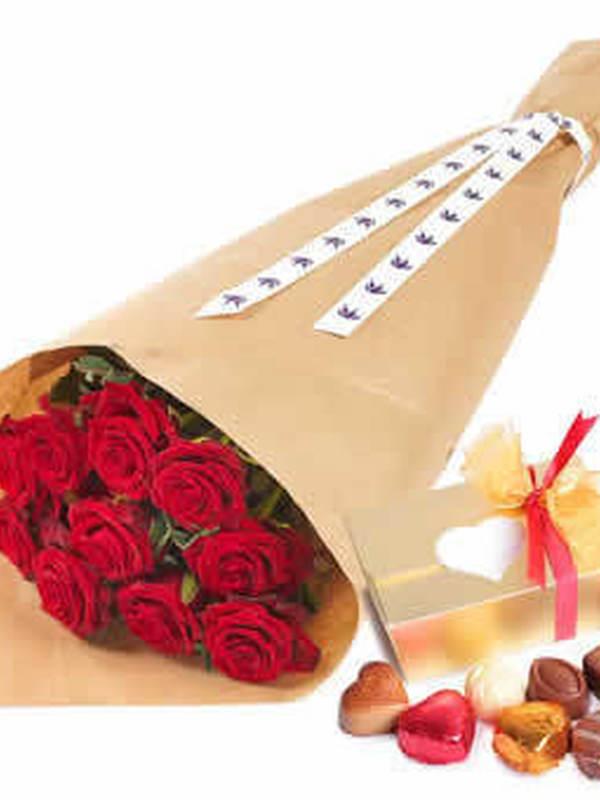 10 rode rozen