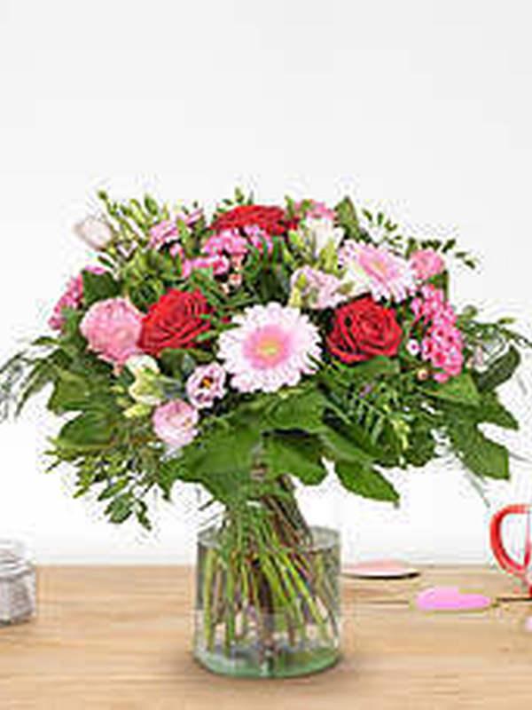 Boeket roze-rood